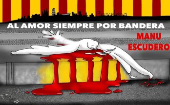 Manu Escudero canta al Amor siempre por bandera tras los atentados de BarcelonA