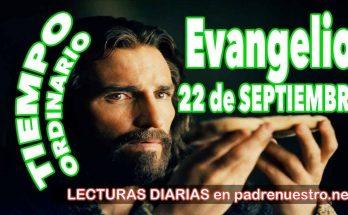 Evangelio del día 22 de septiembre