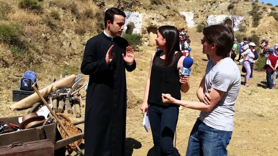 Entrevista a Raúl Escudero, San Pedro Poveda en la ficción rodando en Guadix