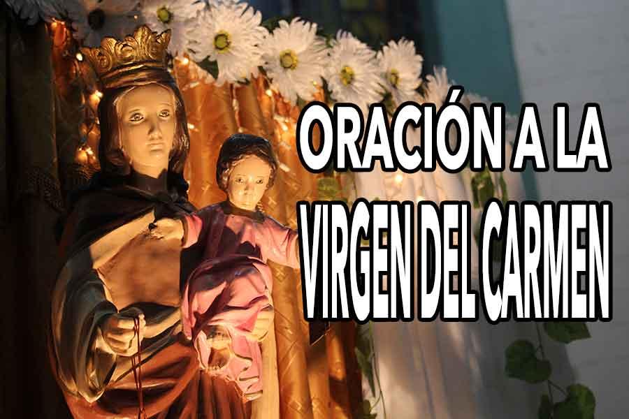 Contigo, Virgen del Carmen   Oración