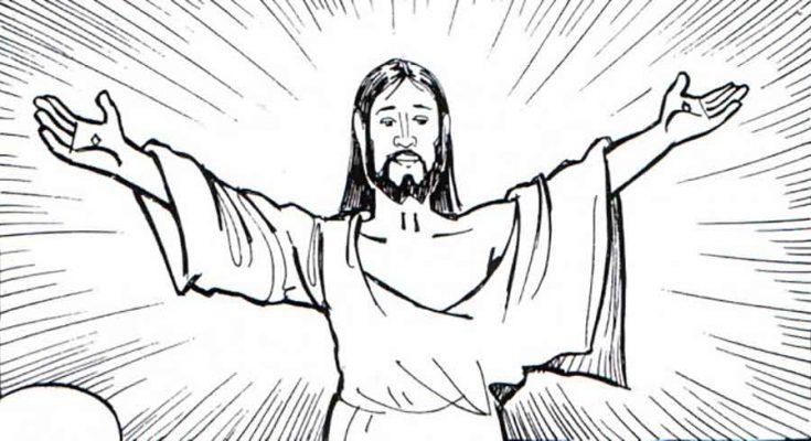 Dibujos para colorear la vida de jesus