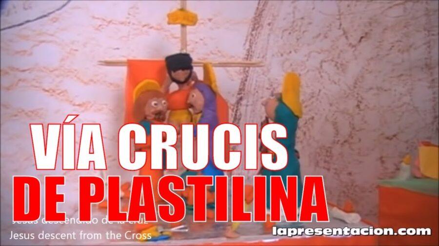 Vía crucis de plastilina realizado por niños
