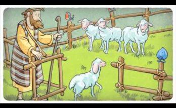 El pastor y sus ovejas dibujos animados de esta bella parábola