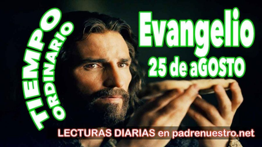 Evangelio del día 25 de agosto