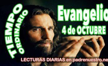 Evangelio del día 4 de octubre