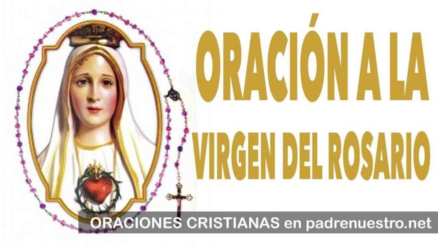 Una Oración a la Virgen del Rosario
