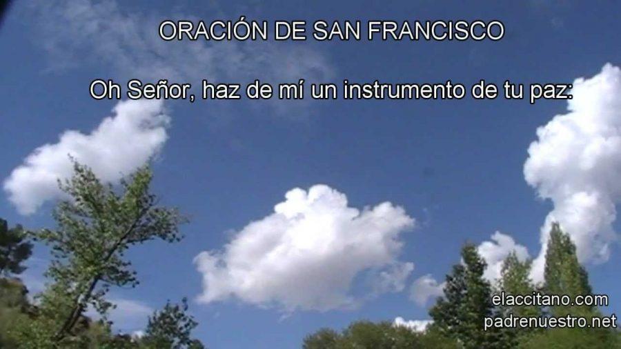 Oración de San Francisco - Haz de mi un instrumento de tu paz