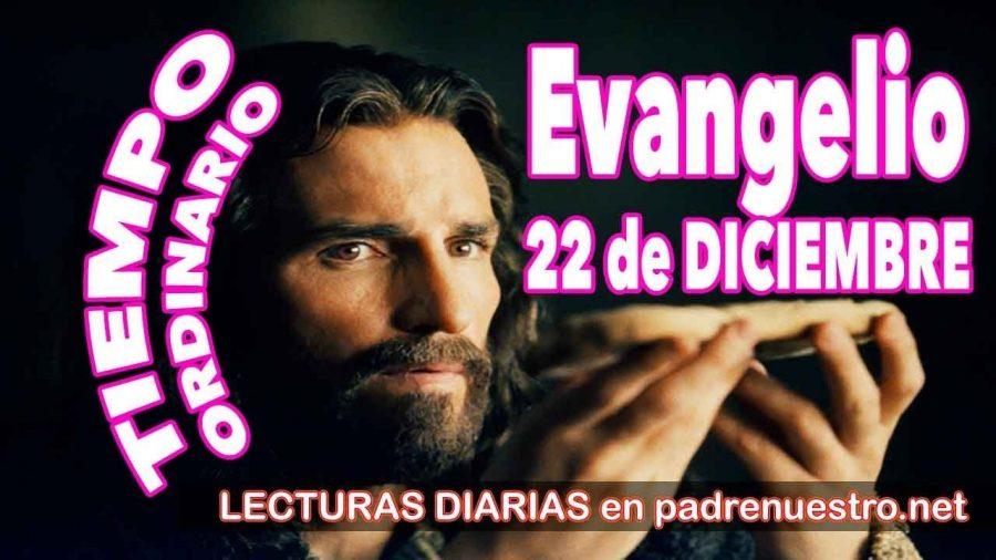 Evangelio del día 22 de diciembre
