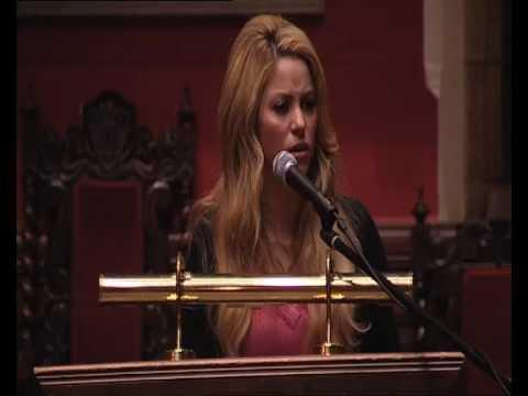 Discurso de Shakira en Oxford Union