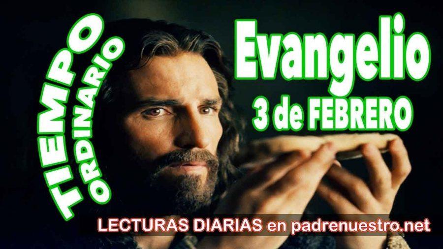 Evangelio del día 3 de febrero