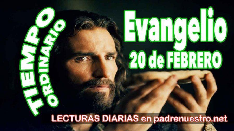 Evangelio del día 20 de febrero