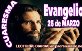 Evangelio del día 25 de marzo