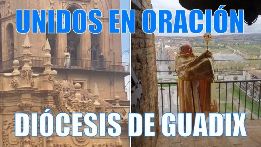 D. Francisco Jesús Orozco bendijo a la diócesis de Guadix y rezó por el fin de la pandemia