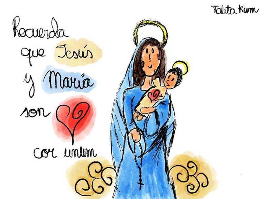 Dibujos de Jesús y María