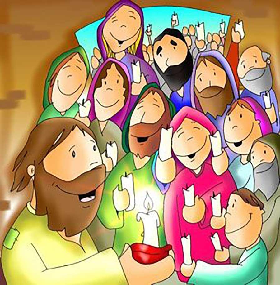 Pentecostés Jesús con los apóstoles
