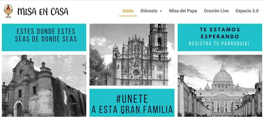 web www.misaencasa.com