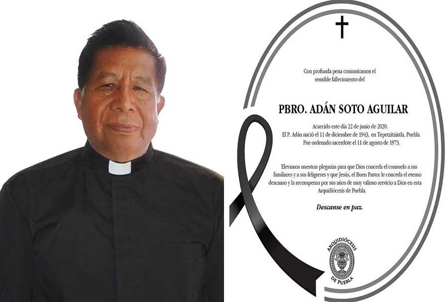 Fallece el Padre Adan Soto