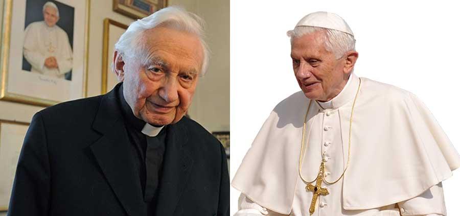 Benedicto XVI y su hermano