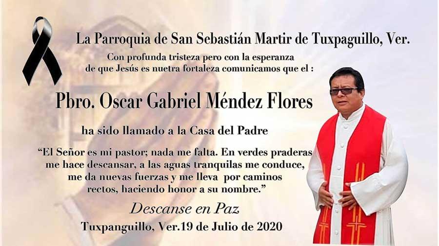 FALLECE el Sacerdote Óscar Gabriel Méndez por Covid