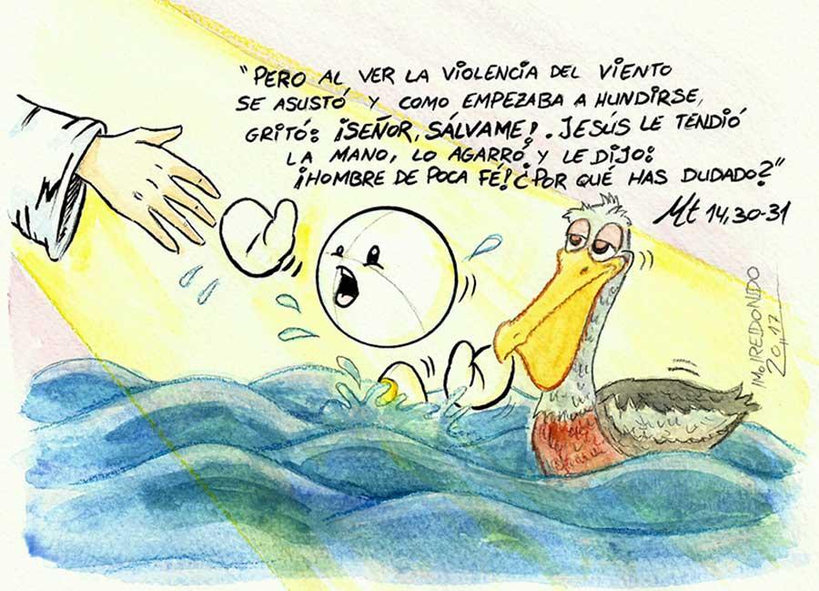 Dibujo Miguel Redondo para el XIX Domingo del Tiempo ordinario