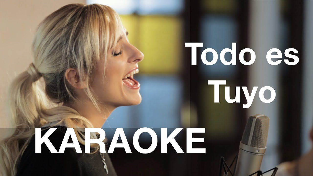 Versión karaoke de Todo Es Tuyo | ATHENA | Música católica