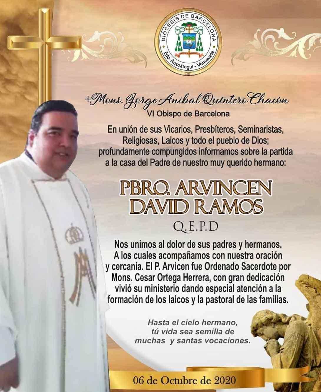 Fallece sacerdote Arvincen David