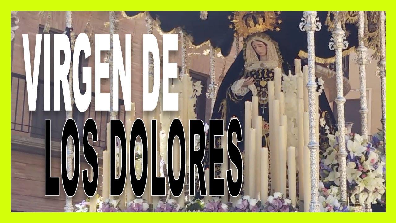 La Virgen de los Dolores a su paso por tribuna