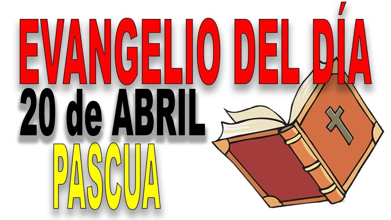 Evangelio del 20 de abril con el Padre Guillermo Serra