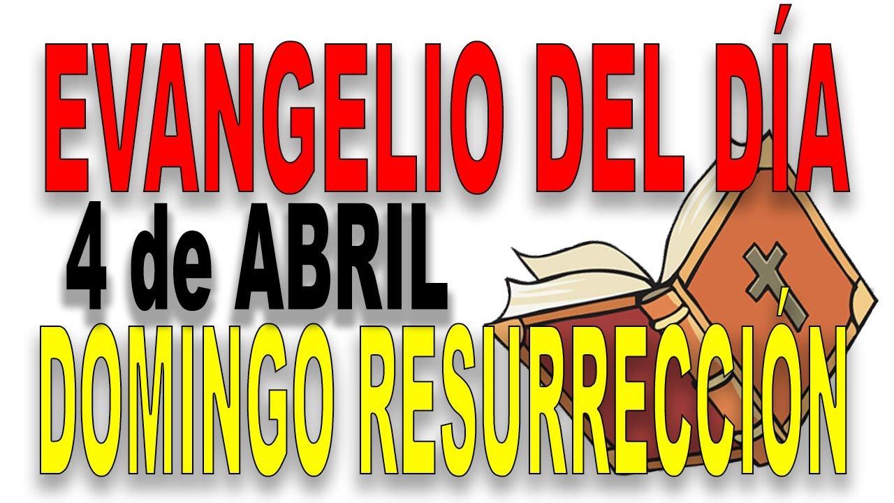 Evangelio del día 4 de abril con el Padre Guillermo Serra - DOMINGO DE RESURRECCIÓN