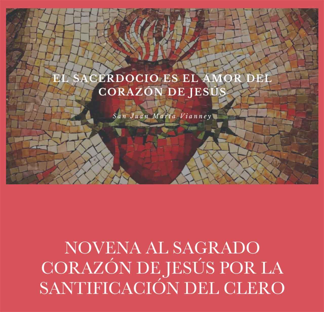 Libro novena al Corazón de Jesús