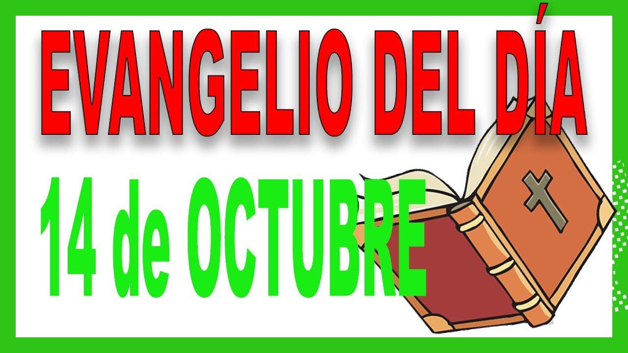 Evangelio del día 14 de octubre