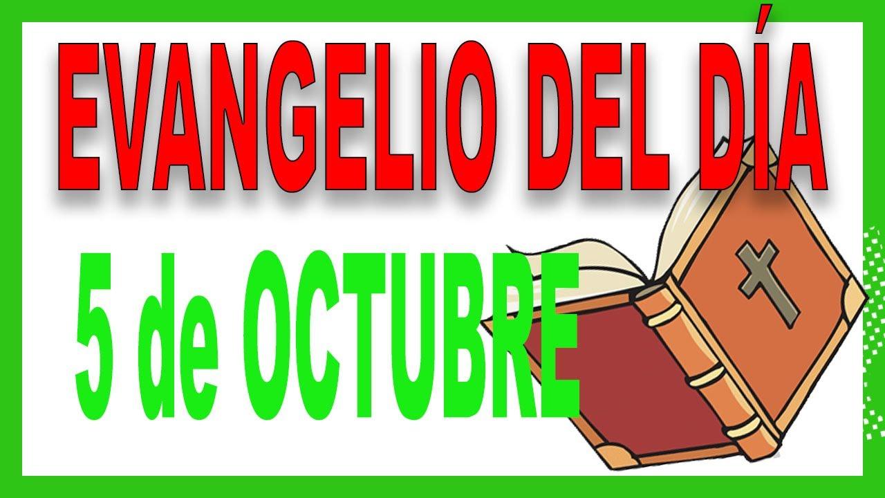 Evangelio del día 5 de octubre